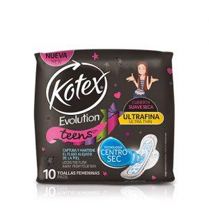 Kotex Teens Ultra Fina 10